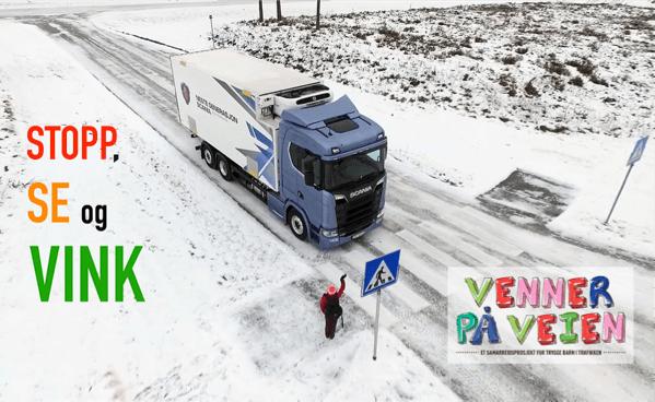 «Venner på veien», – Stopp, Se og Vink! Trafikksikkerhetskampanje rettet mot barn, som skal bidra til å redde liv i trafikken